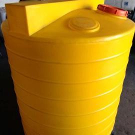 洛阳1立方1吨PE塑料加药箱塑料搅拌罐搅拌桶减水剂储罐