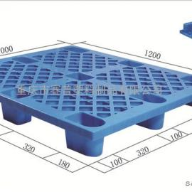 重庆大足区塑料托盘 方形网格托盘1210赛普厂家直销
