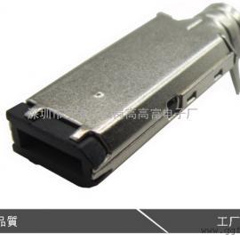 USB 1394 焊线公头~三件套6p 1394插头