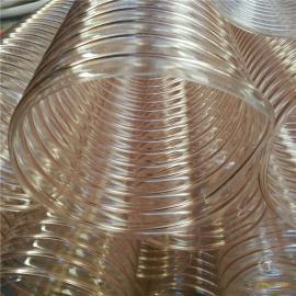 通风吸尘钢丝伸缩软管耐磨损抽吸锯末木屑镀铜钢丝伸缩管道