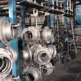 铸件专用悬链步进式抛丸清理机,积放式抛丸清理机。