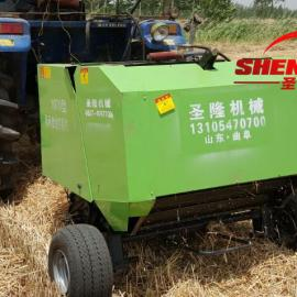 小麦秸秆捡拾打捆机 行走式打捆机 圆捆打捆机多少钱