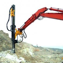 新型凿岩钻机一分钟打一米推介挖机改液压凿岩机深凯品牌