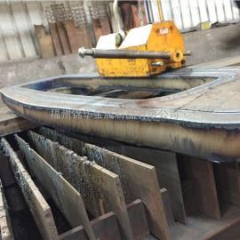 T=55MM碳钢板火焰切割加工