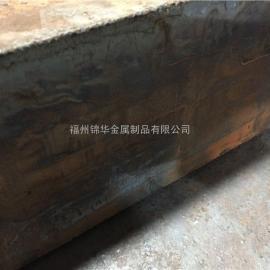 T=100MM碳钢板火焰切割加工