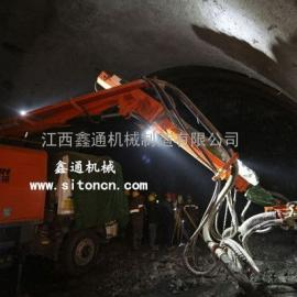 江西鑫通湿喷机器人在地道中的利用