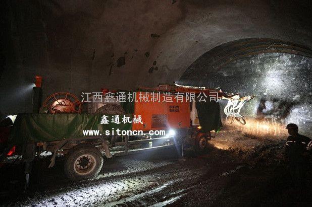 江西鑫通湿喷机械手在隧道中的应用
