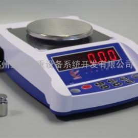 百分位�子天平300g/0.01g���a小天平可�接打印�C