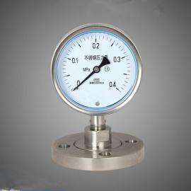 唐山不锈钢耐震压力表,轴向压力表