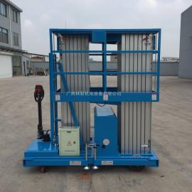 双人7米高铝合金升降机/双轨GTWY7-200电动升降机