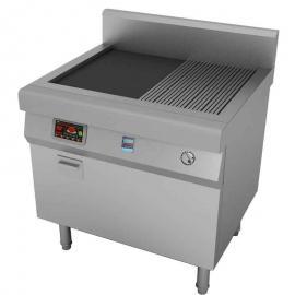 明档全平扒炉 电磁单头大炒炉 东莞市著龙热能设备有限