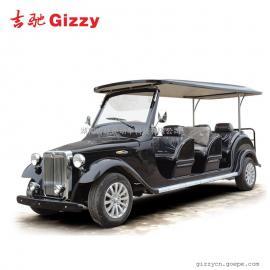 八座电动老爷车销售看房车黑色四轮旅游电动观光车
