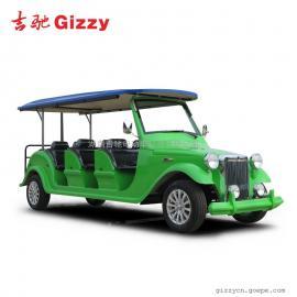8座电动老爷车房交会看房车绿色旅游电瓶车
