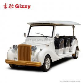供应杭州电动老爷车吉驰科技12座电动看房车白色观光用电动车