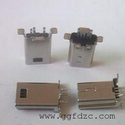 MINI USB立插180度公�^/MINI 立式公�^