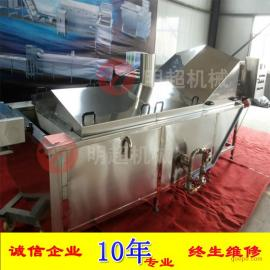 厂家销售 明超网带输送式巴氏杀菌机 不锈钢果蔬漂烫机原理