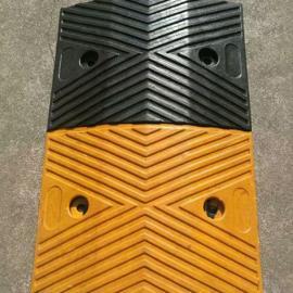 深圳梯型减速带 橡胶减速板 限速带缓冲带 路拱