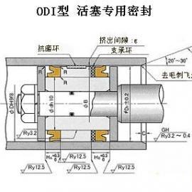 日本NOK产ODI型液压缸活塞密封专用密封件