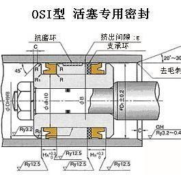 日本NOK产OSI型液压缸活塞密封专用密封件