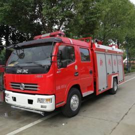 江特牌国五装水4吨东风多利卡水罐消防车配置价格图片