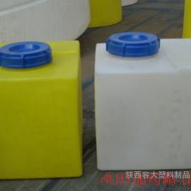 西安塑料桶厂家 40升计量罐40L水处理加药箱/PE桶