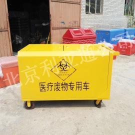 北京利亚通厂家医疗废物手推转运车、垃圾专用保洁车医用垃圾车
