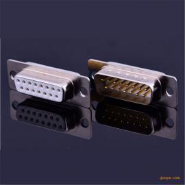 原装正品D-SUB车针公头镀金连接器