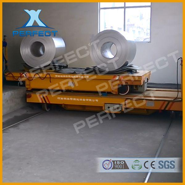 5吨搬运车 轨道式电动平板车 车间摆渡用轨道车