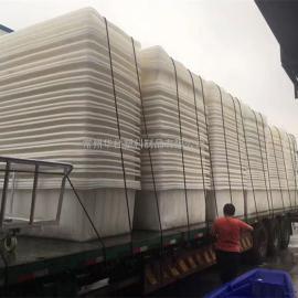 盐城K2000L方形塑料方箱推布车布草车周转箱厂家