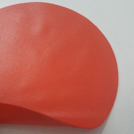 桔红色防火耐酸碱橡胶布料用于全密封消防员化学防护服