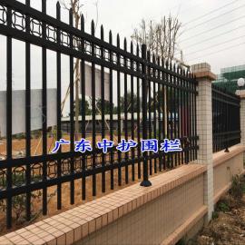 珠海护栏网围墙价格/电厂围墙防护栏杆/通透式围墙铁栅栏
