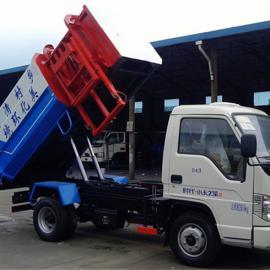 程力挂桶式垃圾车价格_国五3方挂桶垃圾车卖