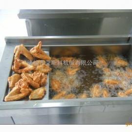 电加热自动控温油炸锅 分体式燃煤燃气油炸机 自动搅拌油炸机