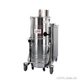 车间用大功率工业吸尘器移动式吸尘吸水一体机不锈钢桶身吸尘机