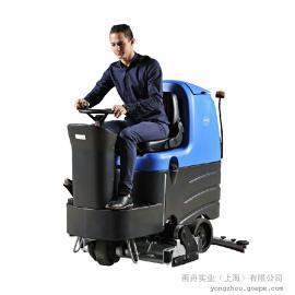 西安洗地机 容恩驾驶式洗地机 车间重油污地面用洗地机