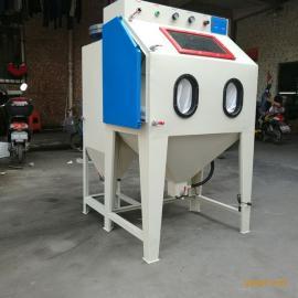 小型箱式手动喷砂机 五金铝合金表面除锈喷砂打砂机
