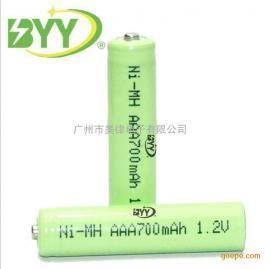 厂家供镍氢AAA电池足700mah1.2V 玩具 遥控 鼠标7号电池 充电电池