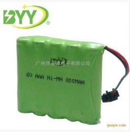 厂家直销镍氢AAA电池组6V800mah 草坪灯充电池组7号电池组 足容