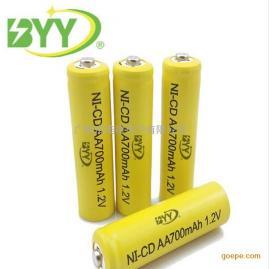 供应镍镉AA700mah 1.2V电池5号充电电池足容 太阳能尖头五号电池