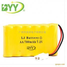 镍镉AA电池组足700mah7.2V 玩具电池组 游戏机用5号充电电池组