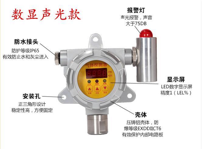 山东瑶安YA-D200工业用防爆级氯气泄漏探测器氯气泄漏检测仪