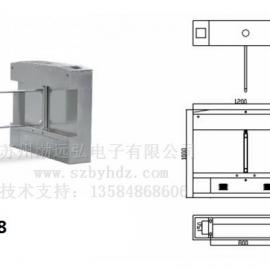 Aegir BYH6608桥式斜角摆闸-专业闸机制造商