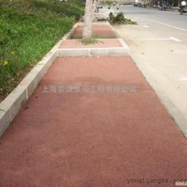 厂家直供/透水路面材料 混凝土增强剂 鄂州广场彩色透水地坪
