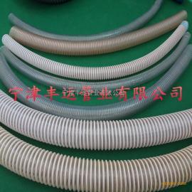 厂家直销PU塑筋增强软管 耐磨抽料软管 白色塑料骨架螺旋管