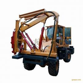 打桩拔桩护栏一体式打桩机,护栏打桩机,装载式护栏打桩机