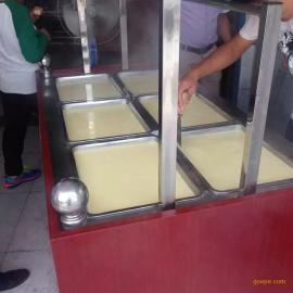 酒店做油皮的设备腐竹机厂家数控蒸汽型豆衣机