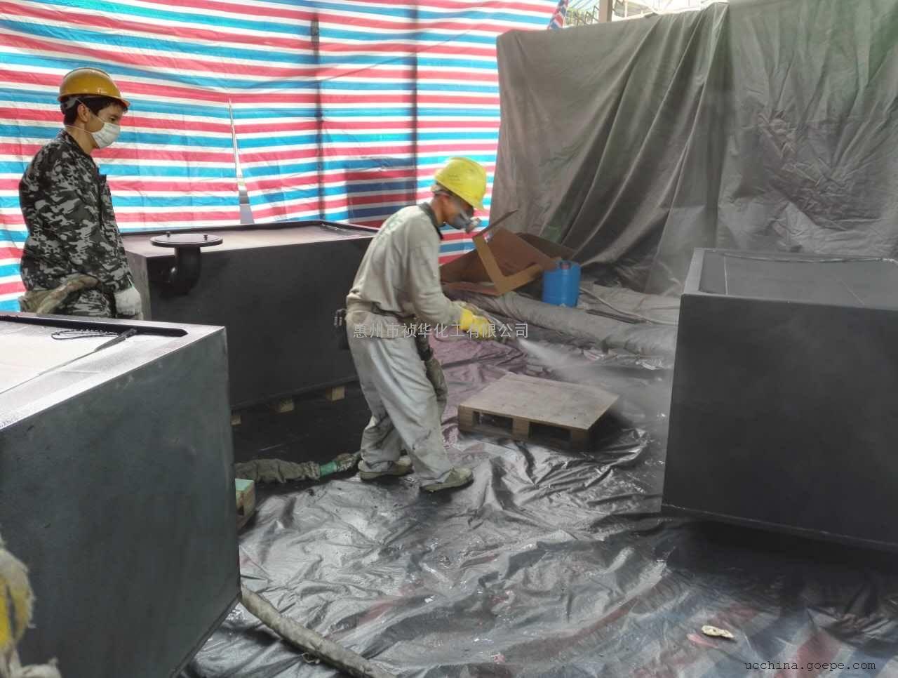 广东祯华化工聚脲防水防腐涂料用于华为出口埋地机柜