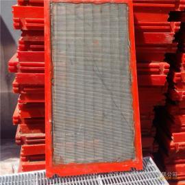 厂家定制聚氨酯包边不锈钢条缝筛网 楔形筛网