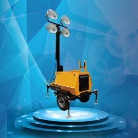 手摇升降移动照明灯塔 自动升降应急照明车 户外施工照明