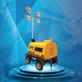 9米气动升降移动照明灯塔 便携式升降工作灯移动照明车